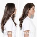 Barrettes clic clac longues cheveux épais noires