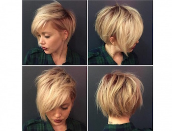 Coupe de cheveux en carre degrade