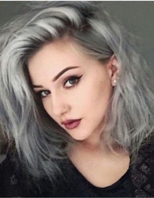 Carre degrade cheveux gris