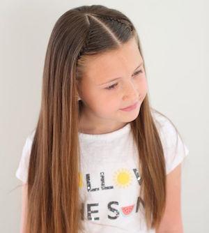 Coupe cheveux long petite fille