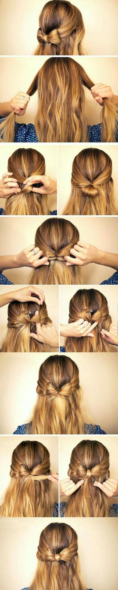 cheveux noeud tuto