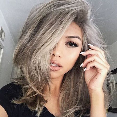 Coloration de cheveux en gris