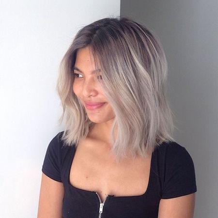 cheveux courts gris blond - Coloration Cheveux Gris Argent