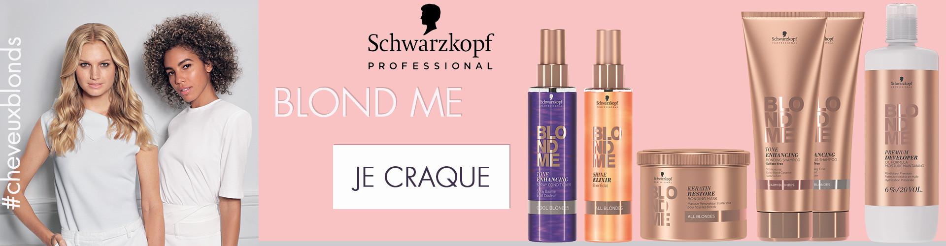 Schwarzkopf produit professionnel de la coiffure gamme spéciale blond Blond Me