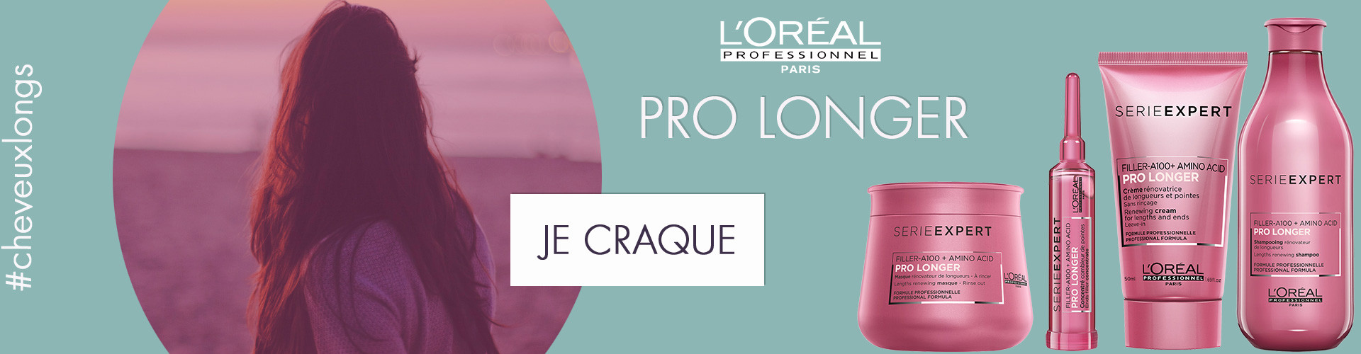 nouvelle gamme pro longer de l'oréal professionnel pour obtenir des cheveux longs et eviter les ciseaux du coiffeur